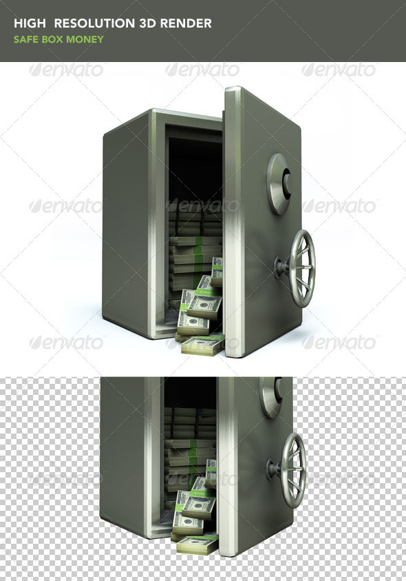 Safe Box Money - Objects 3D Renders
