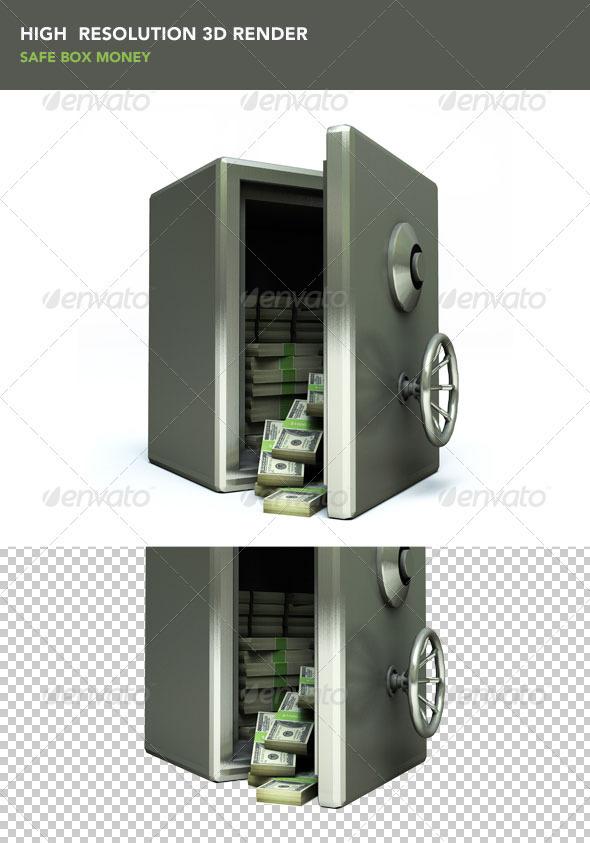 GraphicRiver Safe Box Money 428302