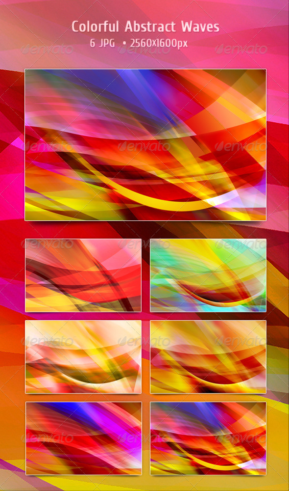 Colorful Abstract Waves - Abstract Backgrounds