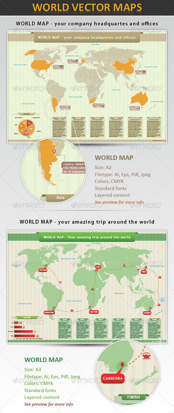 World Map - Infographics