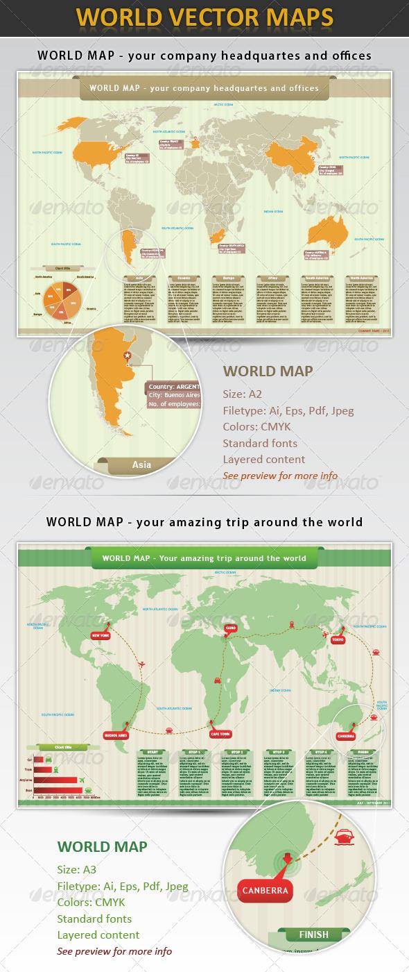 GraphicRiver World Map 428329