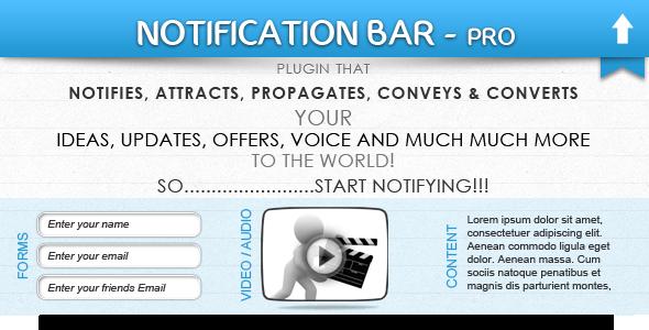 CodeCanyon Notification Bar Plugin 3911937