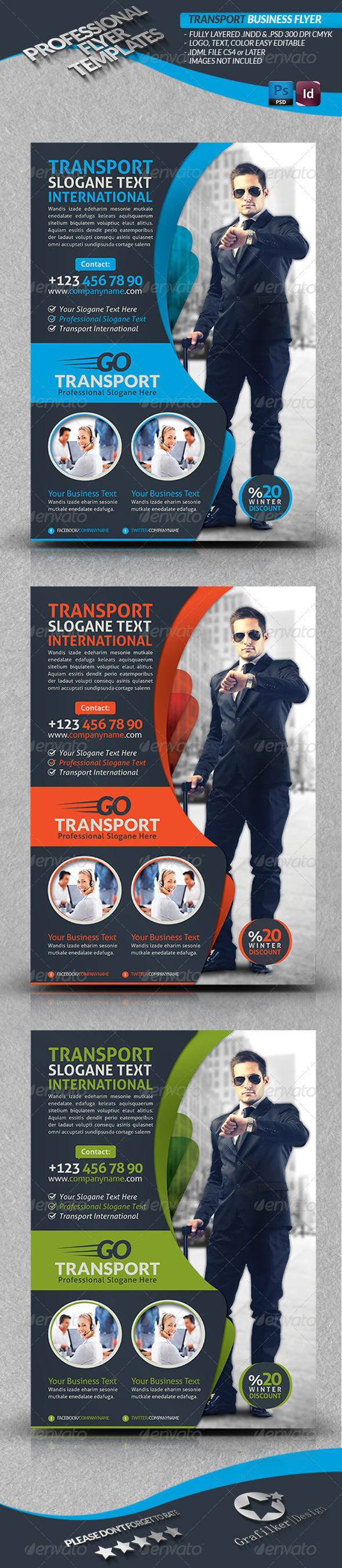 Transport Business Flyer - Corporate Flyers