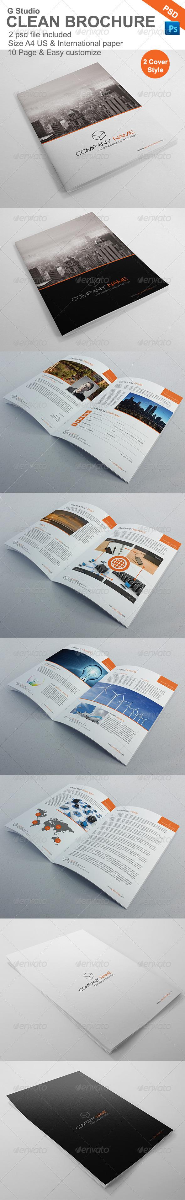 GraphicRiver Gstudio Clean Brochure Template 3969262
