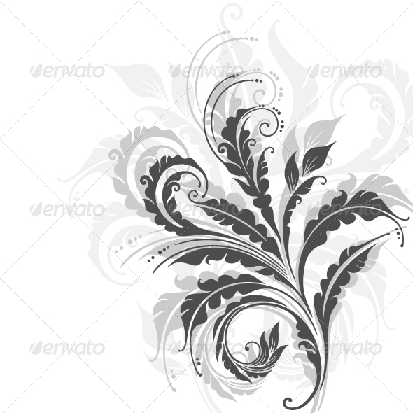 GraphicRiver Decorative Floral Background 3969608