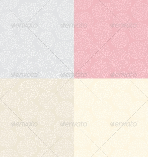 GraphicRiver Seamless Background with Flowers 3969610