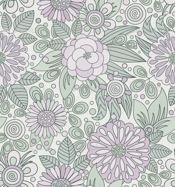 GraphicRiver Picturesque Seamless Pattern in Soft Colors 3969626