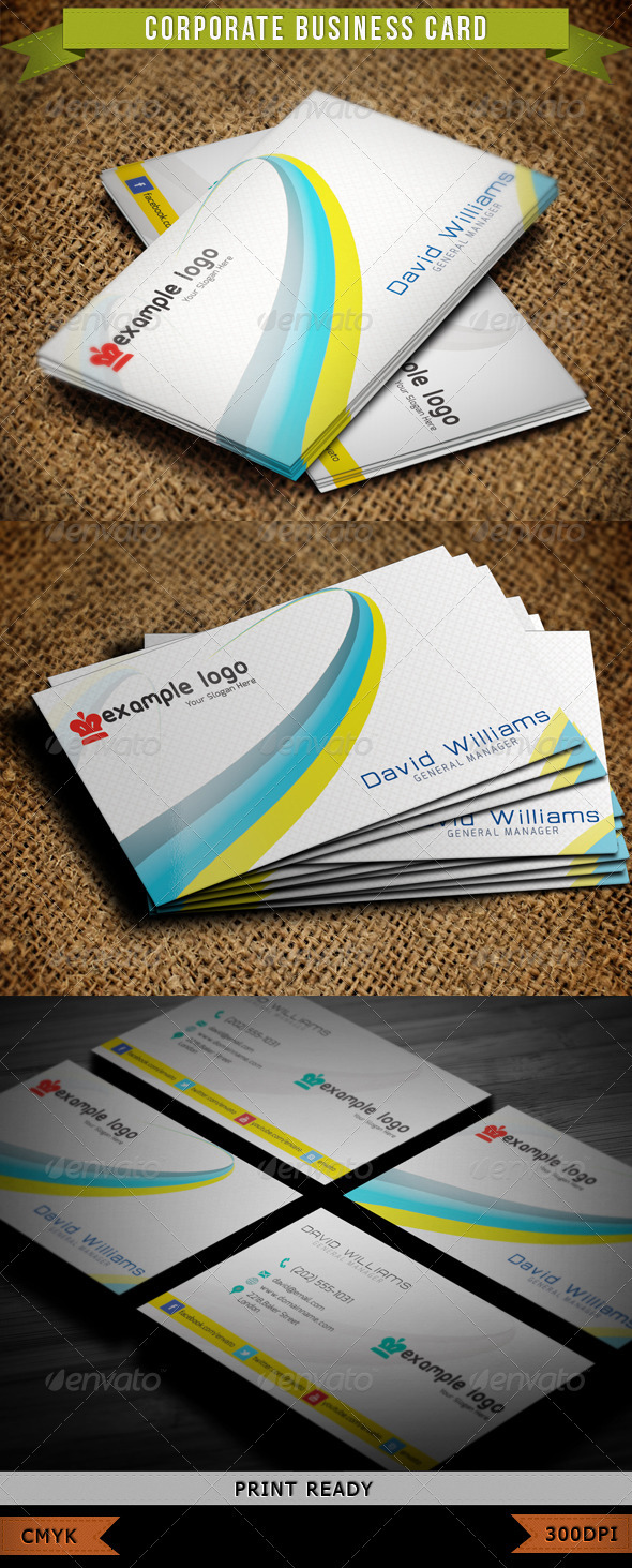 Corporate Business Card 001 - Corporate Business Cards
