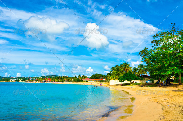 PhotoDune Beautiful beach in Saint Lucia Caribbean Islands 3969939