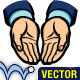 Vector Opened Hands - GraphicRiver Item for Sale