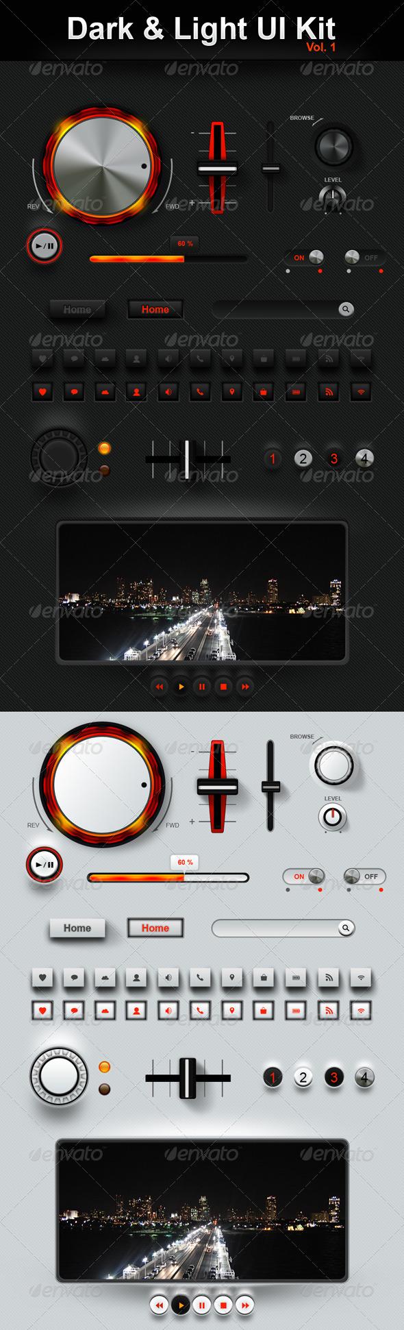 Dark & Light User interface  - User Interfaces Web Elements