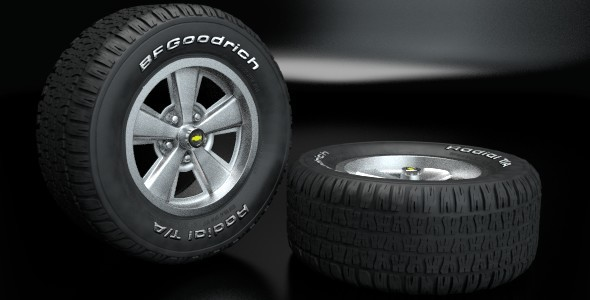 3DOcean Bfgoodrich Radial T A Wheel 3970226