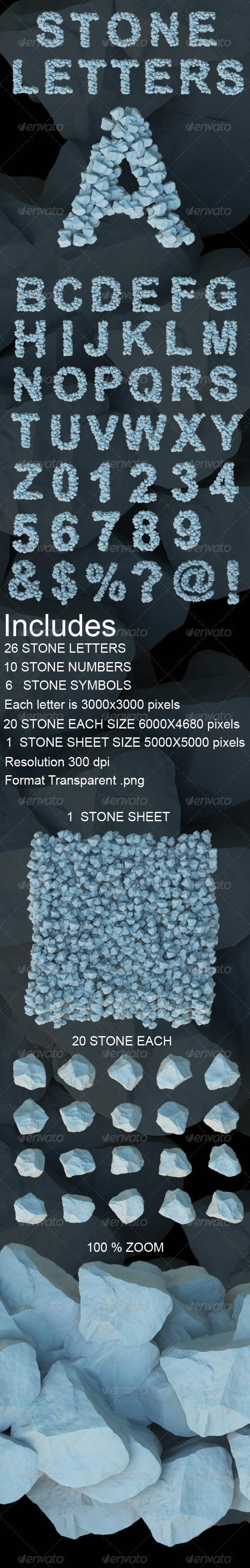 GraphicRiver 3D Stone Letters 3970295