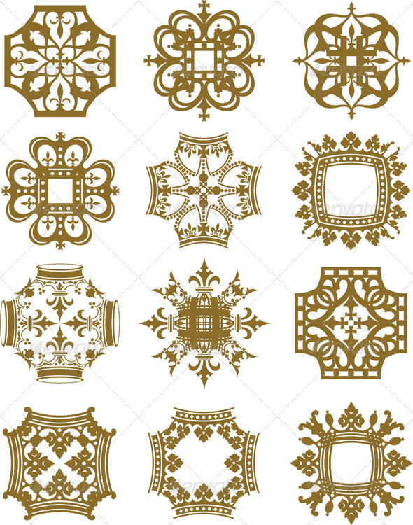 GraphicRiver Crown Symbols 3970383