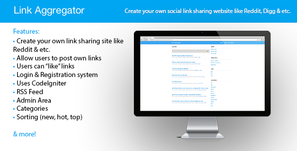 CodeCanyon Link Aggregator PHP Link Sharing Script 3970648