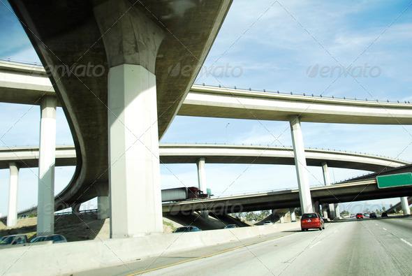 PhotoDune freeway road network in America 4009417