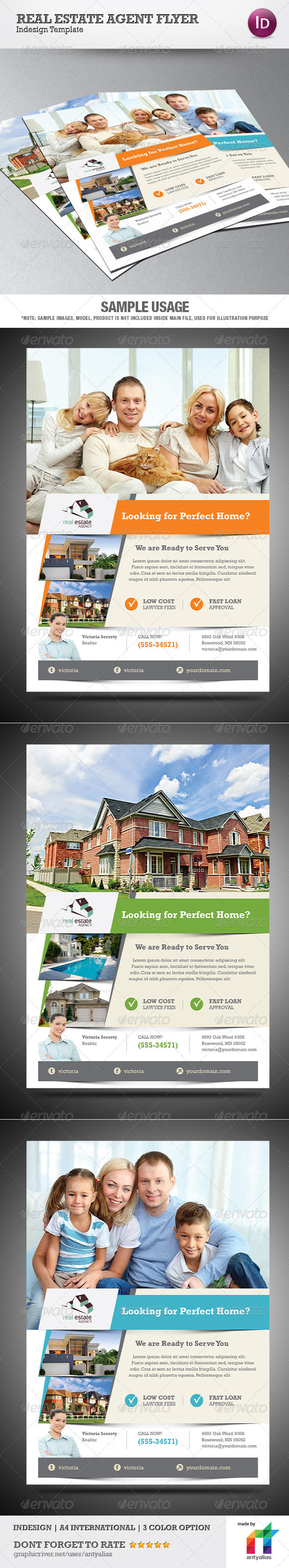 GraphicRiver Real Estate Agent Flyer 3971423