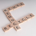 Reduce, Reuse Recycle Scrablle Concept - PhotoDune Item for Sale