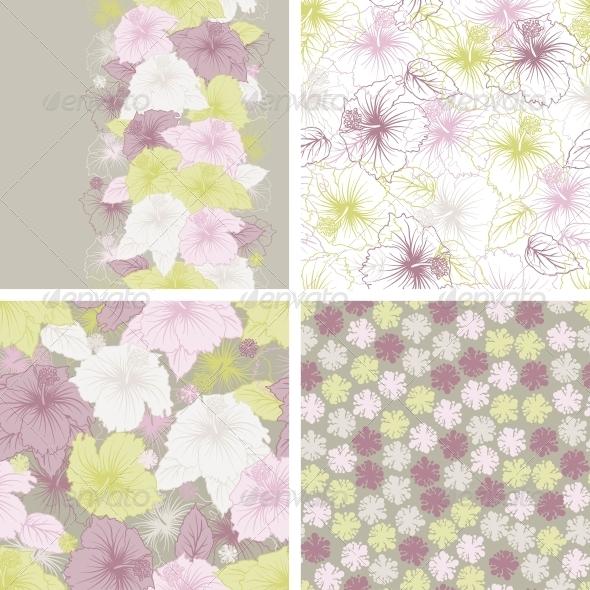 GraphicRiver Elegance seamless pastel flower pattern 3971581