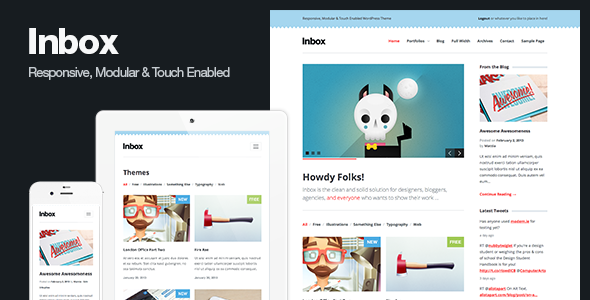 ThemeForest Inbox Responsive Blog & Portfolio WordPress Theme 3959627