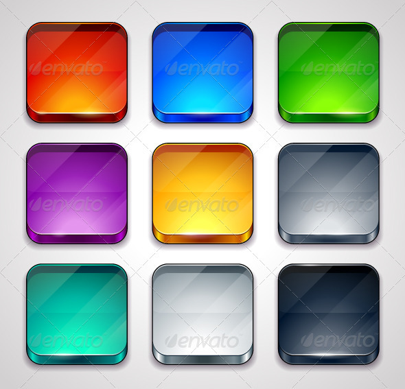 GraphicRiver Backgrounds for apps icons 3972175