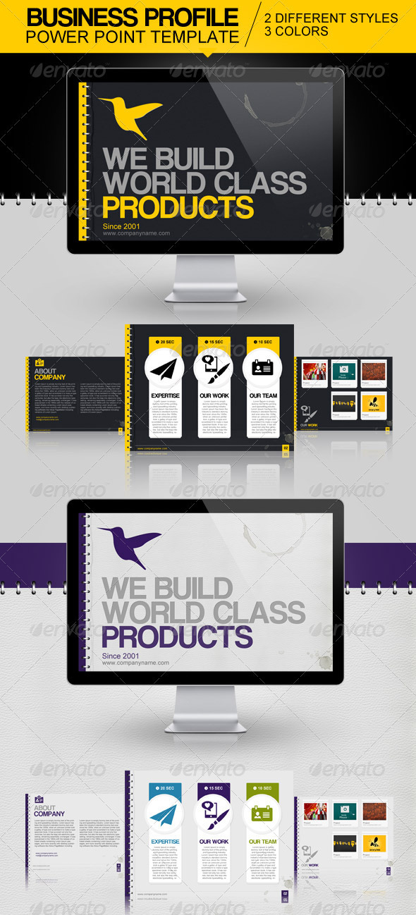 Business Profile Power Point Template - Powerpoint Templates Presentation Templates