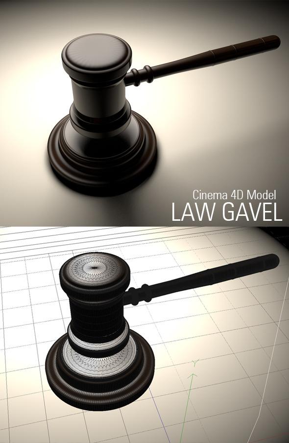 3DOcean Law Gavel Model 3960969