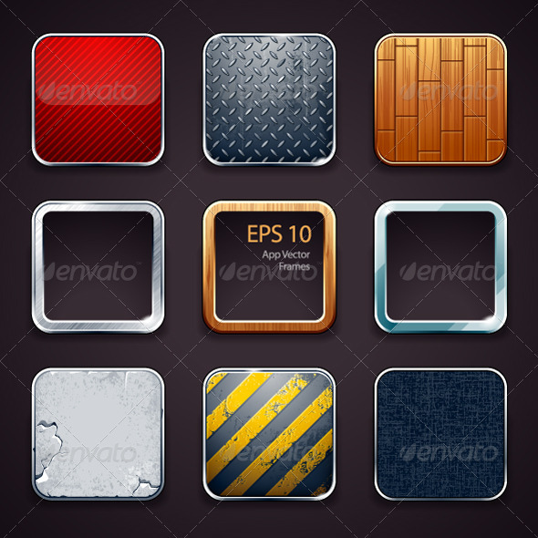 GraphicRiver Backgrounds for apps icons 3972233