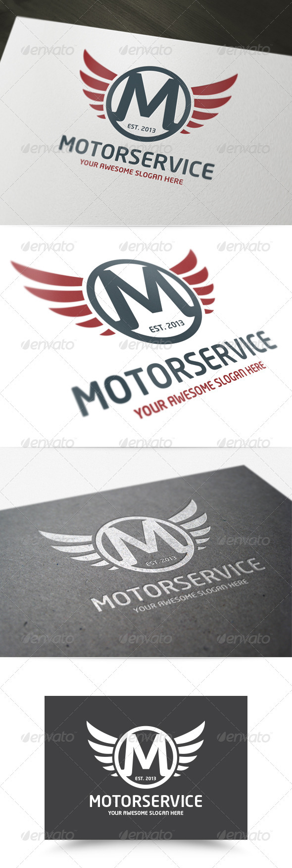 Motor Service Logo - Letters Logo Templates