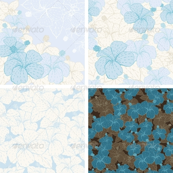 GraphicRiver Seamless flower patterns and backgrounds 3972291