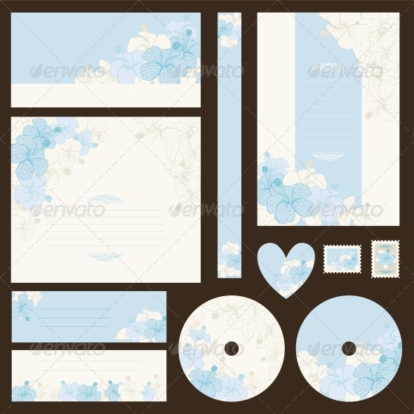 GraphicRiver Set of wedding invitations 3972293