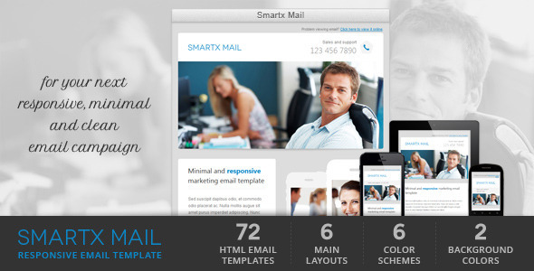 ThemeForest Smartx Mail Responsive Email Template 3959207