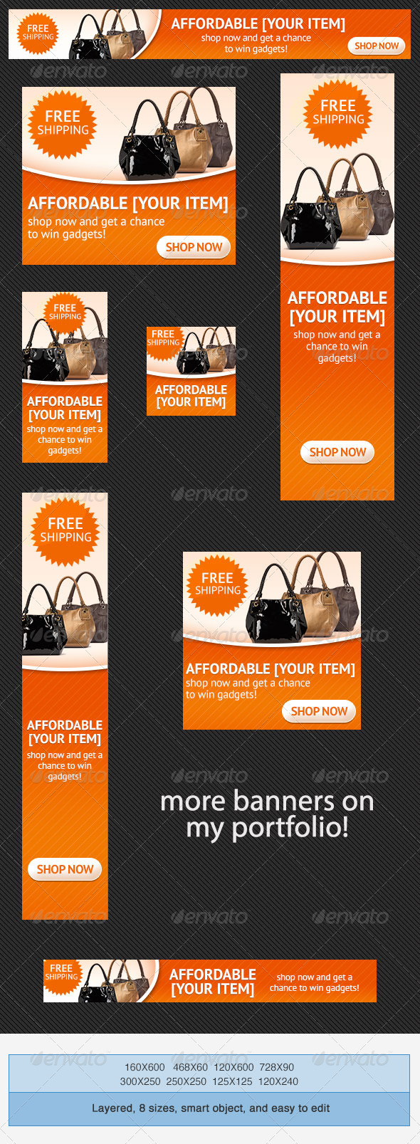 Online Shopping PSD Banner Ad Template - Banners & Ads Web Elements