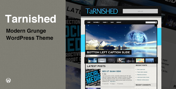 Tarnished: Blog/Business Grunge WordPress Theme