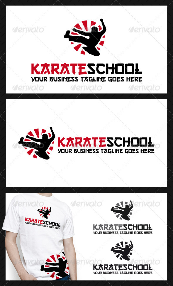 GraphicRiver Karate School Logo Template 3867287