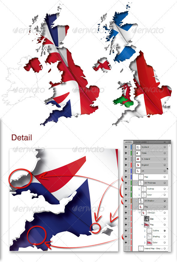 GraphicRiver UK Flag-Map Inner Shadow 3973489