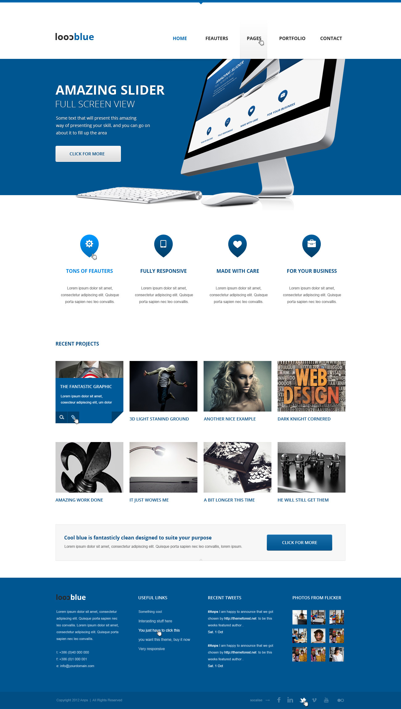 Coolblue - Responsive Multipurpose Wordpress theme