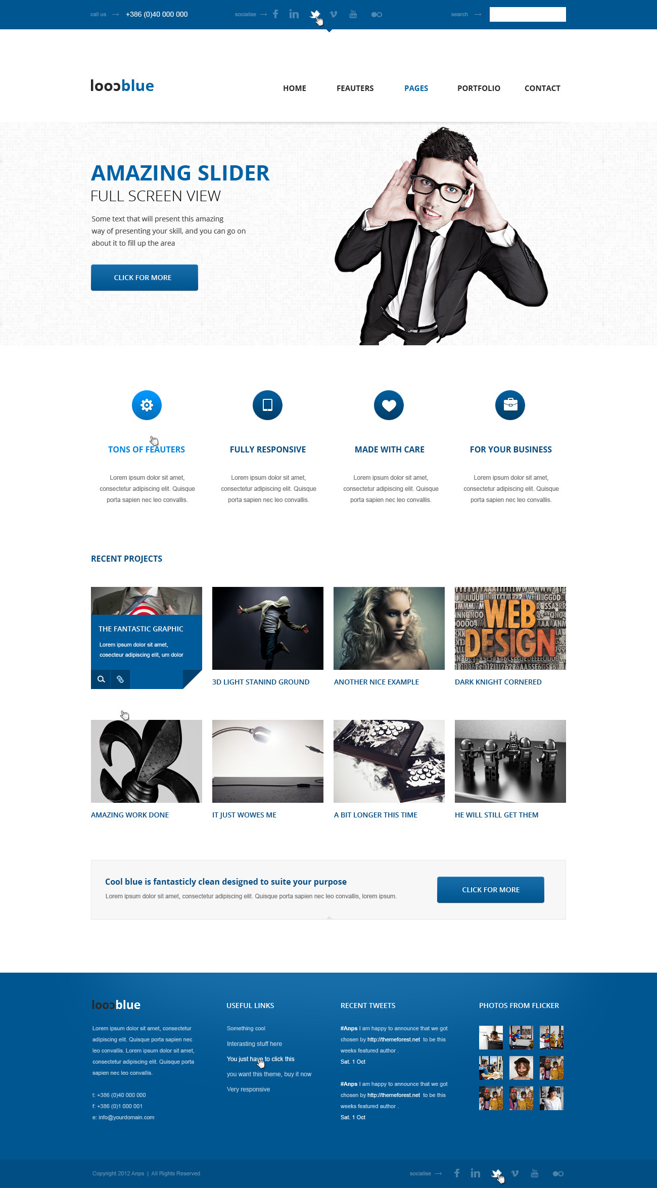 Coolblue - Responsive Multipurpose Wordpress theme