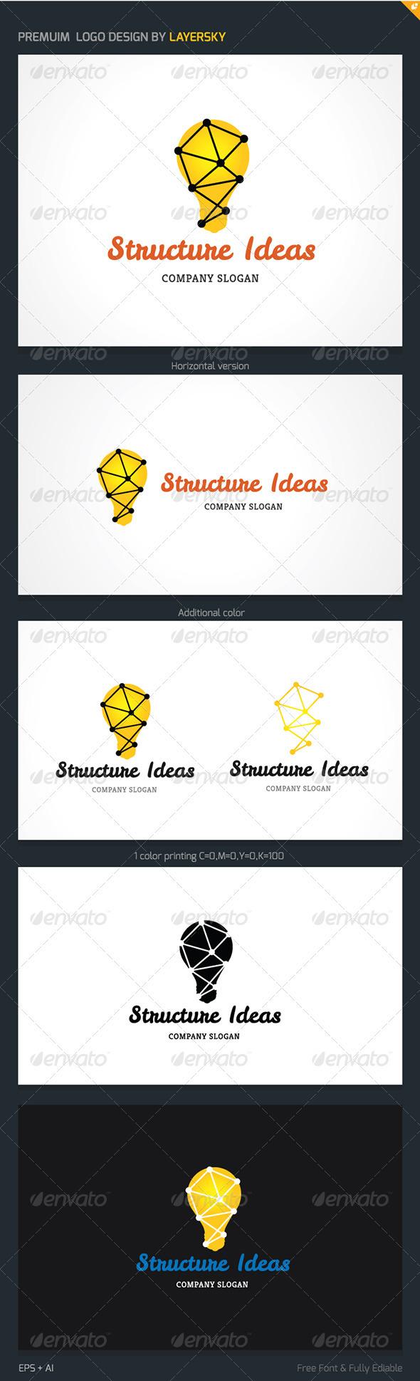 GraphicRiver Structure Ideas Logo 3868290