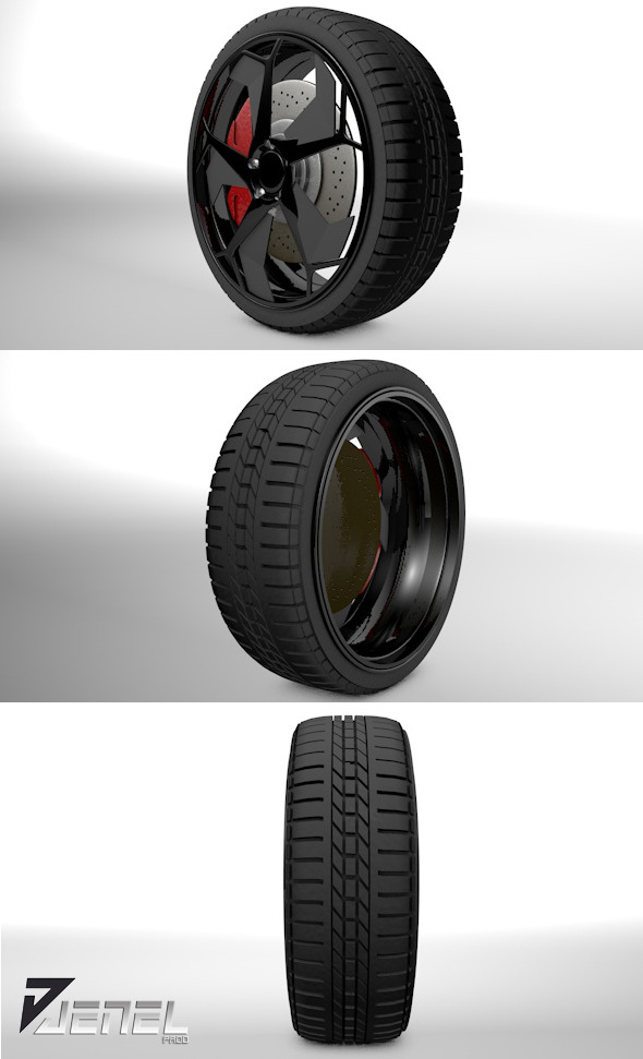 3DOcean Car Wheel 3974113