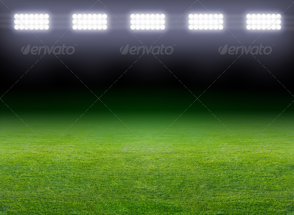 Green soccer field - Stock Photo - Images