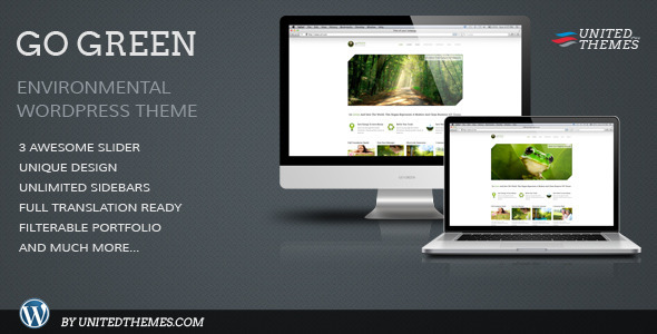 Go Green - Modern Business Portfolio WP Theme - Environmental Nonprofit