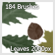 184 Leaves Brushes ( 2000px ) - GraphicRiver Item for Sale
