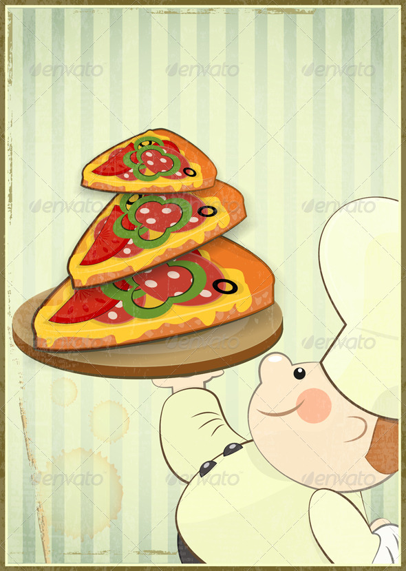 GraphicRiver Pizza and Chef 3975153