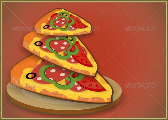 GraphicRiver Pizza Slices 3975168