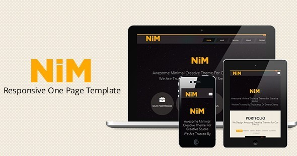 ThemeForest NiM- Responsive One Page Creative Template 3975581