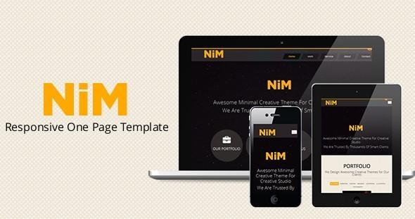 NiM- Responsive One Page Creative Template - Portfolio Creative