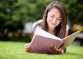 Woman studying outdoors - PhotoDune Item for Sale