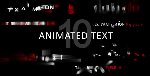 Animated text - separate letters animation by artproject | VideoHive