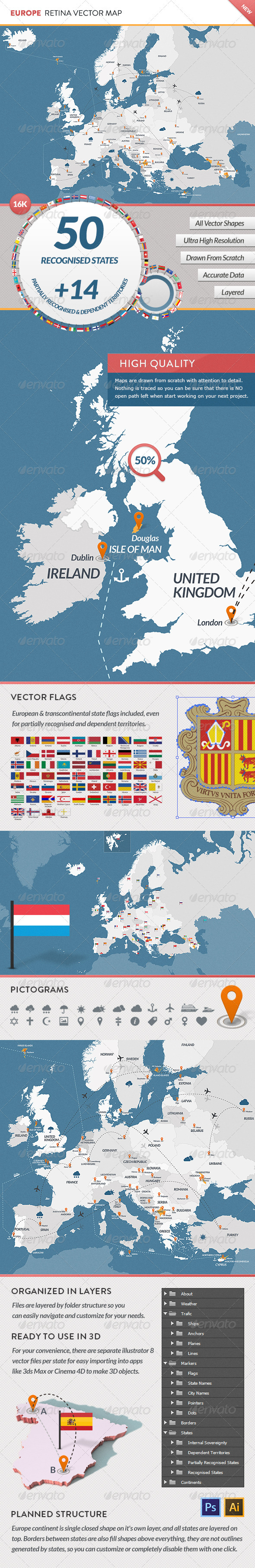 GraphicRiver Europe Retina Vector Map 3883286